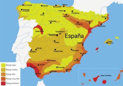 mapa filariosis España